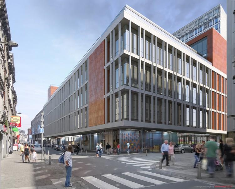 Transformation d 39 un immeuble de commerces en bureaux for Immeuble bureau
